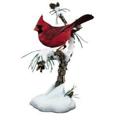 Winter's jewel.  One of four seasonal cardinal figurines by Bob Guge sold by Danbury Mint.