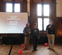 Opening eerste festival met 3 jonge developers. april 2012