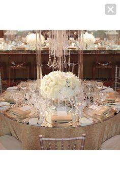 My dream wedding! Drapes and dramatic decor!