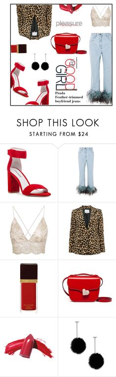 """JEANS PRADA"" by ceci4diplomazy ❤ liked on Polyvore featuring Jeffrey Campbell, Prada, Frame, Tom Ford, Marni, Tuleste and polyvoreeditorial"