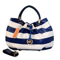 Michael Kors Outlet Striped Large Blue Drawstring Bags -Michael Kors  factory outlet online sale now up to off!