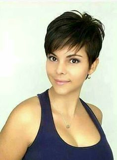 Got to love this gorgeous pixie cut! Got to love this gorgeous pixie cut! Haircuts For Fine Hair, Cute Hairstyles For Short Hair, Short Hair Cuts For Women, Curly Hair Styles, Short Pixie Haircuts, Thin Hair Updo, Short Haircut Styles, Great Hair, Hair Today