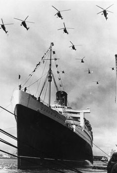 Queen Mary gets a royal farewell, september 1967, Southampton I got to board this ship when I was a child.
