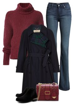 """""""Untitled #528"""" by leehyena on Polyvore featuring Paige Denim, BY. Bonnie Young, Burberry, CHARLES & KEITH and Boohoo"""