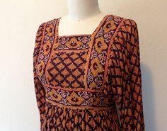 1960s Indian maxi dress by VelvetGoldmineShop on Etsy