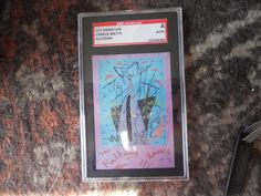 CHARLIE WATTS-THE ROLLING STONES-  AUTO SIGNED CUT--SGC SLABBED