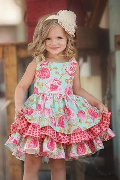 The Adeline dress is the perfect style to make your daughter feel like a southern belle. She can twirl and dance while wearing the Adeline to birthday parties, Easter egg hunts, and spring photos. Dress For Girl Child, Little Dresses, Little Girl Dresses, Toddler Dress, Baby Dress, Cute Dresses, The Dress, Girls Dresses, Modest Dresses