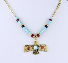 Cowgirl Bling Tribal Aztec Native Symbol Turquoise Gold tone Gypsy necklace set all JEWELRY SHIPS FREE! www.baharanchwesternwear.com baha ranch western wear ebay seller id soloedition