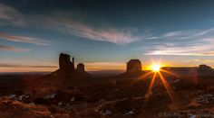 The Mittens and Merrick Butte Sunrise at Monument Valley Utah 2
