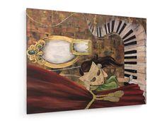 Hinter der Maske #Anja #Kraus #weewado #mask #girl #curtain #grope #Kind #piano