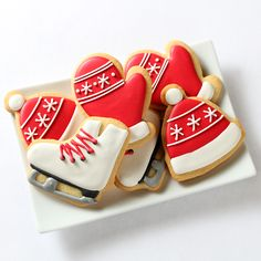 """Skating Party"" Decorated Cookies"