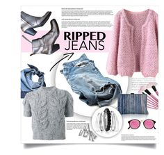 """Style This Trend: Ripped Jeans"" by lenochca ❤ liked on Polyvore featuring Gucci, Maison Margiela, Inge Christopher, Acne Studios, Avenue and RetroSuperFuture"