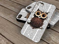 Colorful Owl on Newspaper spesial design iphone by KOWLONGJEMBUTAN, $13.99