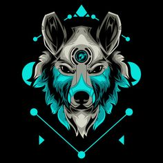 Perfect wolf head vector illustration in black background Premium Vector Wolf Poster, Abstract Iphone Wallpaper, Thor Wallpaper, Wolf Illustration, Game Logo Design, Cyberpunk Art, Art Logo, Fantasy Creatures, Illustrations Posters
