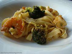 Creamy Broccoli & Shrim Fettucine