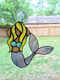 Mermaid stained glass suncatcher