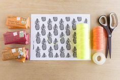 DIY Free Printable Pineapple Wrapping Paper - DIY Craft Kits, Monthly Craft Projects, Craft Supplies, Subscription Box | Whimseybox