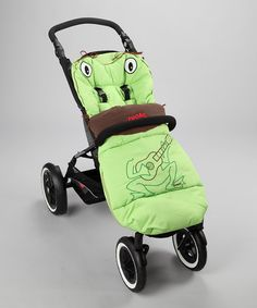 Adorable guitar-playing frog stroller cover!