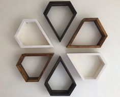 Floating shelf shelf wall shelves geometric by Lovelifewood