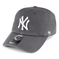 ffca2cc95b376 47 Brand New York Yankees Clean Up Baseball Cap - Charcoal
