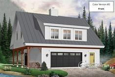 Plans of Woodworking Diy Projects - ATTRACTIVE SUITE OVER GARAGE One bedroom suite garage apartment with open concept and cathedral ceiling (# www. Get A Lifetime Of Project Ideas & Inspiration! Plan Garage, Garage House Plans, New House Plans, Detached Garage Plans, Detached Garage Designs, Garage Guest House, Carriage House Garage, Garage Apartment Plans, Garage Apartments