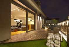 #Salon #Terraza #moderno #decoracion via @planreforma #muebles de exterior #sofas