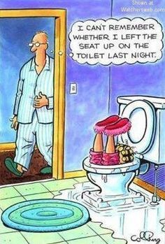 Guys, we know that it's tempting to leaving the toilet seat up.   Here are some words from the wise...Put it down!