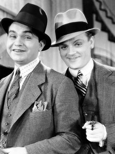 Edward G. Robinson and James Cagney