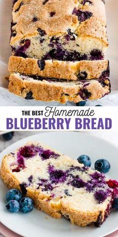 Köstliche Desserts, Delicious Desserts, Yummy Food, Easy Blueberry Desserts, Blueberry Cake, Easy Blueberry Muffins, Blueberry Bread Recipe Moist, Blueberry Breakfast Cakes, Blue Berry Muffins