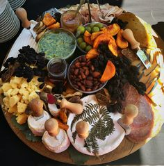 Charcuterie- brie, goat, gouda, pesto, chicken liver mousse, dried apricots, roasted almond, honey, prosciutto, salami,