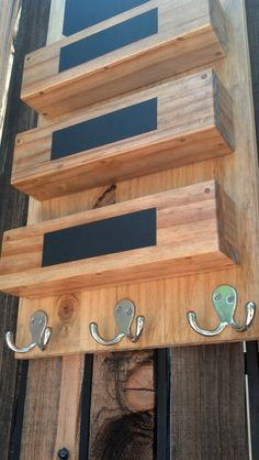 Entry Hall Mail Organizer with Key Rack and by PerpetualLumber, $100.00