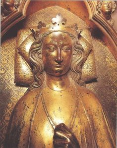 ELEANOR OF CASTILE (b.1241-d.1290). (First) QUEEN CONSORT OF EDWARD I from her husband's ascension on 16th November, 1272 until her death on 28th November, 1290. HOUSE OF PLANTAGENET.  PICTURE: The tomb effigy of Eleanor of Castile in Westminster Abbey.