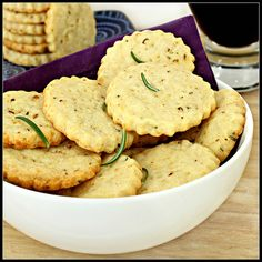 Rosemary Cheese Crackers  Bowl of Crackers by What About Second Breakfast?, via Flickr
