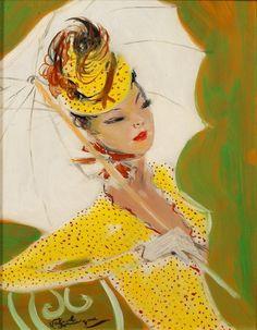 Parisian Women, Paintings by Jean-Gabriel Domergue (24 images)
