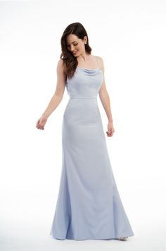 Simple Wedding Dress, Glamorous Chiffon Spaghetti Straps Neckline Sheath/Column Bridesmaid Dresses, Shop fit and flare dresses that match your bridal style featuring the latests trends. Jasmine Bridesmaids Dresses, Long Bridesmaid Dresses, Bridal Wedding Dresses, Blue Wedding, Popular Dresses, Nice Dresses, Girls Dresses, Flower Girl Dresses Country, Jasmine Bridal