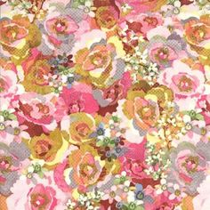 Kissing Booth Candy Pink Large Floral BasicGrey Moda