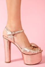 Puffy Heart Platform - Rose Gold
