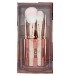 Ted Baker 'Painted Porcelain' Makeup Brush Rose Gold Collection & Holder BNIB