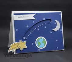 Stampin' Up! Canada Shooting Star and coordinating Sliding Star Framelits make it easy to create slider cards!  Check out this fun sample
