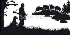 Картинки по запросу hunting silhouette