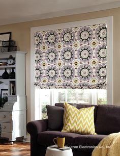 Whimsical patterns aren't just for your accessories. http://www.lutron.com/en-US/Products/Pages/ShadingSystems/Fabrics/Overview.aspx