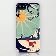 Fox roaming around II iPhone Case by Yetiland - $35.00
