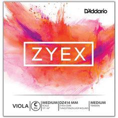 D'Addario Zyex Viola String G Medium Scale 4/4 Silver  Medium