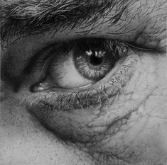 Eye study in pencil Influenced and tutored by his father, a successful oil painter, Remscheid, Germany born artist, Armin Mersmann, who lives in Midland, Michigan now, is known for …