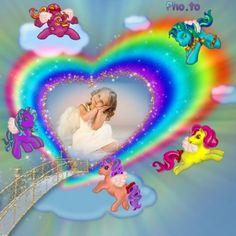 Ponis y arco iris