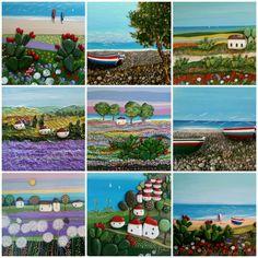 Paesaggi Painted Stones di Rosaria Gagliardi