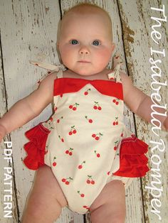 This pattern is so cute I almost started crying. Baby PDF pattern, Baby Romper,