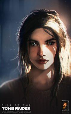 Lara Croft , Furqan Adil on ArtStation at… Lara Croft 2, Tomb Raider Lara Croft, Video Game Characters, Female Characters, Tomb Raider Video Game, Raiders Fans, Tomb Raiders, Rise Of The Tomb, Fanart