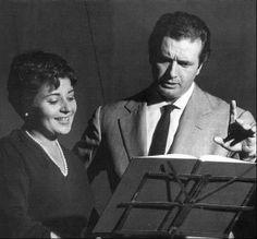 Victoria de los Angeles and Franco Corelli.Registrazione Cavalleria Rusticana...Pietro Mascagni...1962.