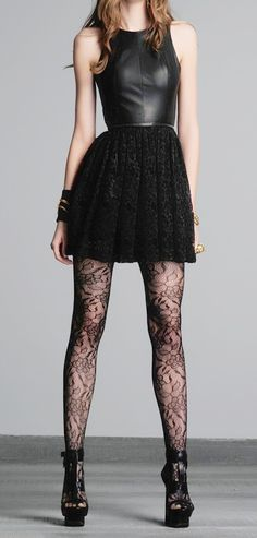 #leather lace Casual Wear Dresses #2dayslook #CasualDresses www.2dayslook.com
